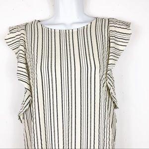Anthropologie Sam&Lani Striped Dress w/Zipper Back